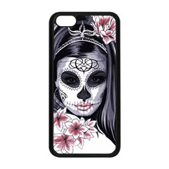 Sugar Skull Apple Iphone 5c Seamless Case (black) by sherylchapmanphotography