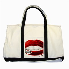 Bite Me Two Tone Tote Bag