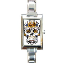 Sugar Skull Rectangle Italian Charm Watch