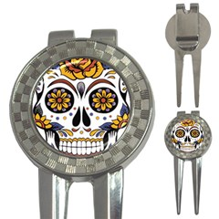Sugar Skull 3 In 1 Golf Divots