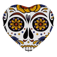 Sugar Skull Heart Ornament (two Sides)
