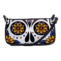 Sugar Skull Shoulder Clutch Bags