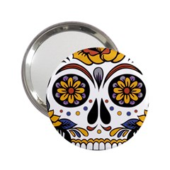 Sugar Skull 2 25  Handbag Mirrors