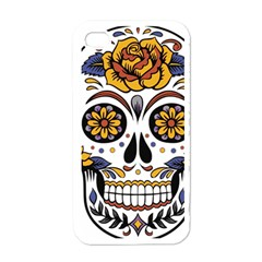 Sugar Skull Apple Iphone 4 Case (white)