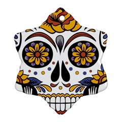 Sugar Skull Ornament (snowflake)