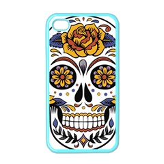 Sugar Skull Apple Iphone 4 Case (color)