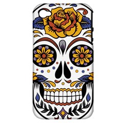 Sugar Skull Apple Iphone 4/4s Hardshell Case (pc+silicone)