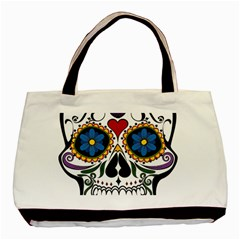 Cranium Sugar Skull Basic Tote Bag