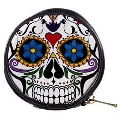Cranium Sugar Skull Mini Makeup Bags