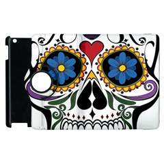 Cranium Sugar Skull Apple Ipad 3/4 Flip 360 Case