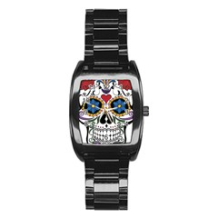 Cranium Sugar Skull Stainless Steel Barrel Watch