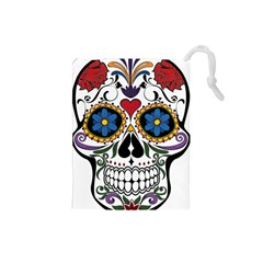 Cranium Sugar Skull Drawstring Pouches (small)