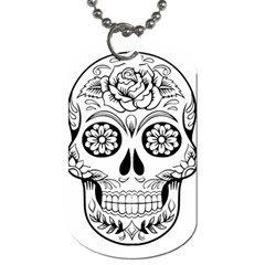 Sugar Skull Dog Tag (two Sides)
