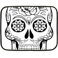 Sugar Skull Double Sided Fleece Blanket (mini)