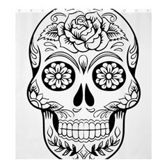 Sugar Skull Shower Curtain 66  X 72  (large)