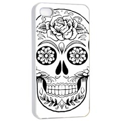 Sugar Skull Apple Iphone 4/4s Seamless Case (white)