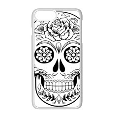 Sugar Skull Apple Iphone 8 Plus Seamless Case (white)