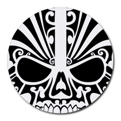 Tribal Sugar Skull Round Mousepads