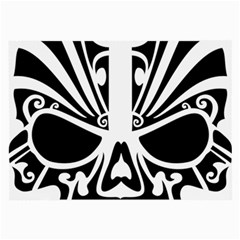 Tribal Sugar Skull Large Glasses Cloth (2 Side) by sherylchapmanphotography