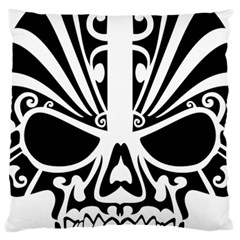 Tribal Sugar Skull Large Cushion Case (two Sides)