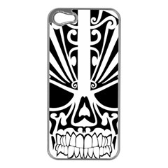 Tribal Sugar Skull Apple Iphone 5 Case (silver)