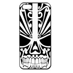 Tribal Sugar Skull Apple Iphone 5 Seamless Case (black)