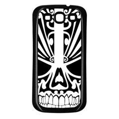 Tribal Sugar Skull Samsung Galaxy S3 Back Case (black)