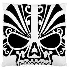 Tribal Sugar Skull Large Flano Cushion Case (two Sides)