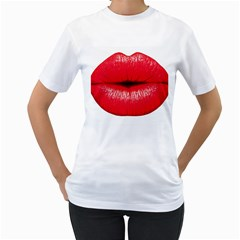 Oooooh Lips Women s T Shirt (white) (two Sided)