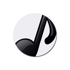 Music Note  Rubber Coaster (round)