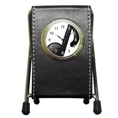 Music Note  Pen Holder Desk Clocks