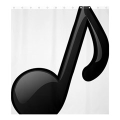 Music Note  Shower Curtain 66  X 72  (large)