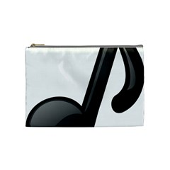 Music Note  Cosmetic Bag (medium)