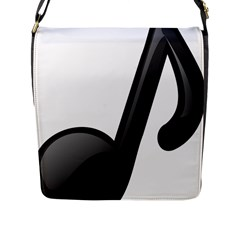 Music Note  Flap Messenger Bag (l)