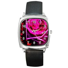 Calligraphy 2 Square Metal Watch