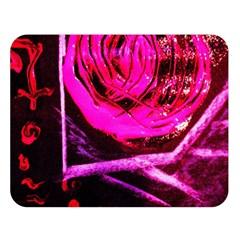 Calligraphy 2 Double Sided Flano Blanket (large)  by bestdesignintheworld