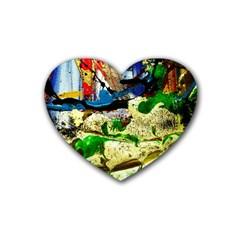 Catalina Island Not So Far 4 Rubber Coaster (heart)  by bestdesignintheworld