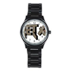 Heavy Metal  Stainless Steel Round Watch