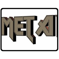 Heavy Metal  Double Sided Fleece Blanket (large)
