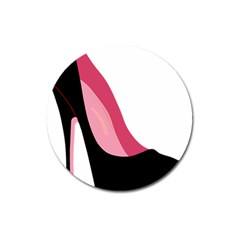 Black Stiletto Heels Magnet 3  (round) by sherylchapmanphotography