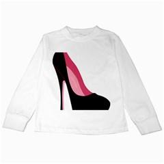 Black Stiletto Heels Kids Long Sleeve T Shirts