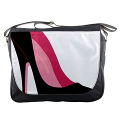 Black Stiletto Heels Messenger Bags