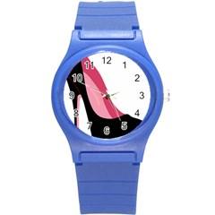 Black Stiletto Heels Round Plastic Sport Watch (s) by sherylchapmanphotography