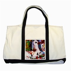 Doves Match 1 Two Tone Tote Bag