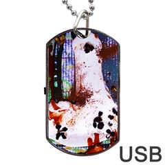 Doves Match 1 Dog Tag Usb Flash (two Sides)