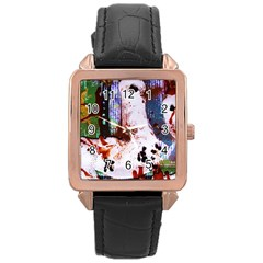 Doves Match 1 Rose Gold Leather Watch