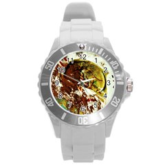 Doves Matchmaking 3 Round Plastic Sport Watch (l) by bestdesignintheworld