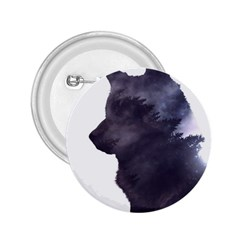 Black Wolf  2 25  Buttons