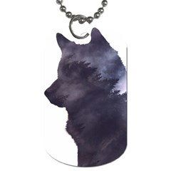 Black Wolf  Dog Tag (two Sides)