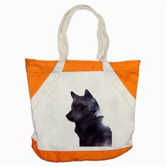 Black Wolf  Accent Tote Bag